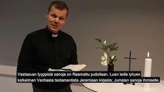 Kirkkoherra  Markus Tirrasen arkihartaus 20.3.2020