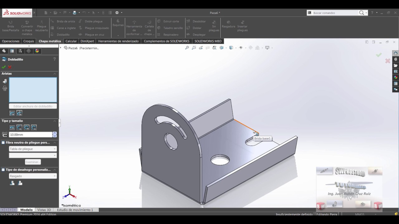 ejercicios de chapa metalica solidworks pdf