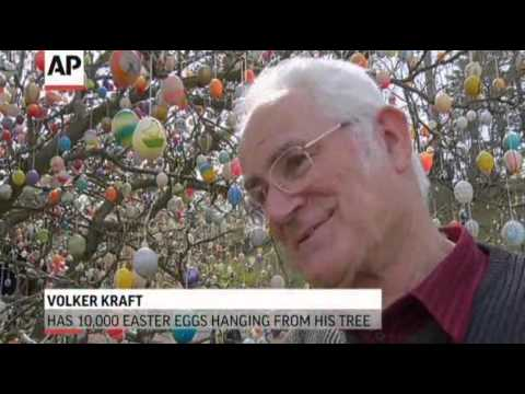 German Tree With 10,000 Easter Eggs