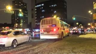 MTA Bus: Forest Hills bound RTS-06 8972 Q23 at Queens Blvd/108 St(Snow)