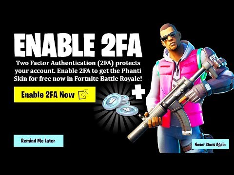 REDEEM YOUR FREE SKIN IN FORTNITE! (Enable 2FA)