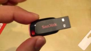 Sandisk Cruzer Blade 16GB USB Stick Unboxing und Hands On