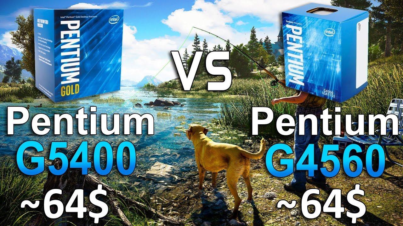 Pentium G5400 vs G4560 Test in 8 Games - YouTube