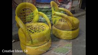 Recycled Used TYRES and DIY Pallet Furniture and more Creative Ideas 2016 - Chair Bed Table Sofa 2