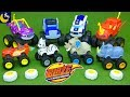 LOTS of Blaze and the Monster Machines Toys Animal Island Diecast Rhino Stripes Crusher Truck Toys