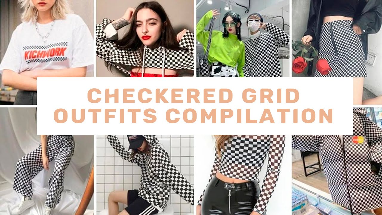 CHECKERED GRID OUTFITS COMPILATION - itGirl Shop