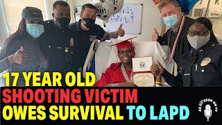 Sean Reynolds, 17-Year-Old Shooting Victim says he Owes his Survival to LAPD