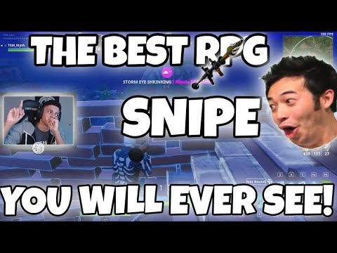 Fortnite| THE BEST RPG SNIPE OF ALL TIME!! NINJA SEXY TIME XD!! -Twitch Highlights #10