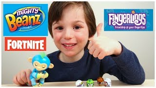 I Won A Giveaway! Unboxing Awesome NEW TOYS! Fortnite Mighty Beanz & Fingerlings BFF