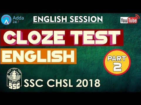 Illustrious Cloze Test Questions Quiz for SSC CGL Tier 2