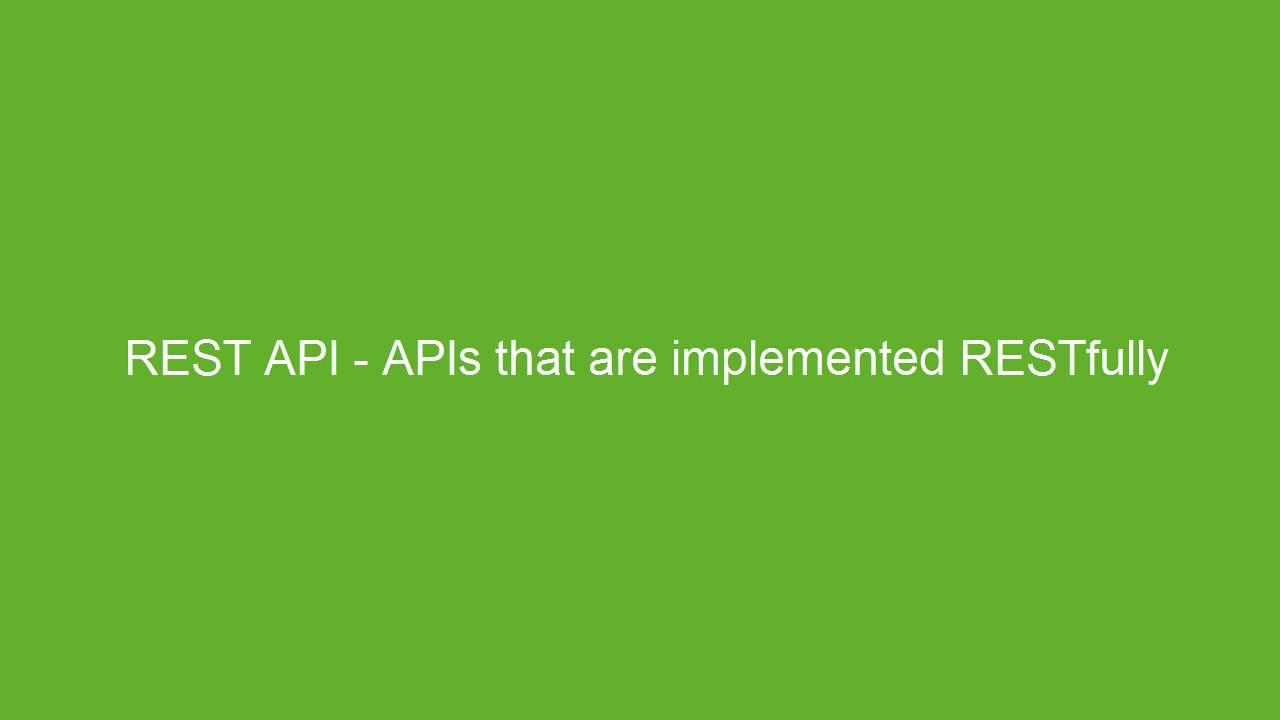 Understanding REST and APIs