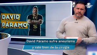 "David Páramo sufre accidente vascular; ""está grave, pero estable"": Gómez Leyva"