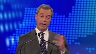 UKIP Nigel Farage vs Nick Clegg, BBC Europe debate 2 02Apr14