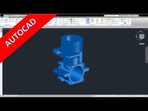 Kurbelgehaeuse - Crankcase - Autocad 2017 Training - Part Design
