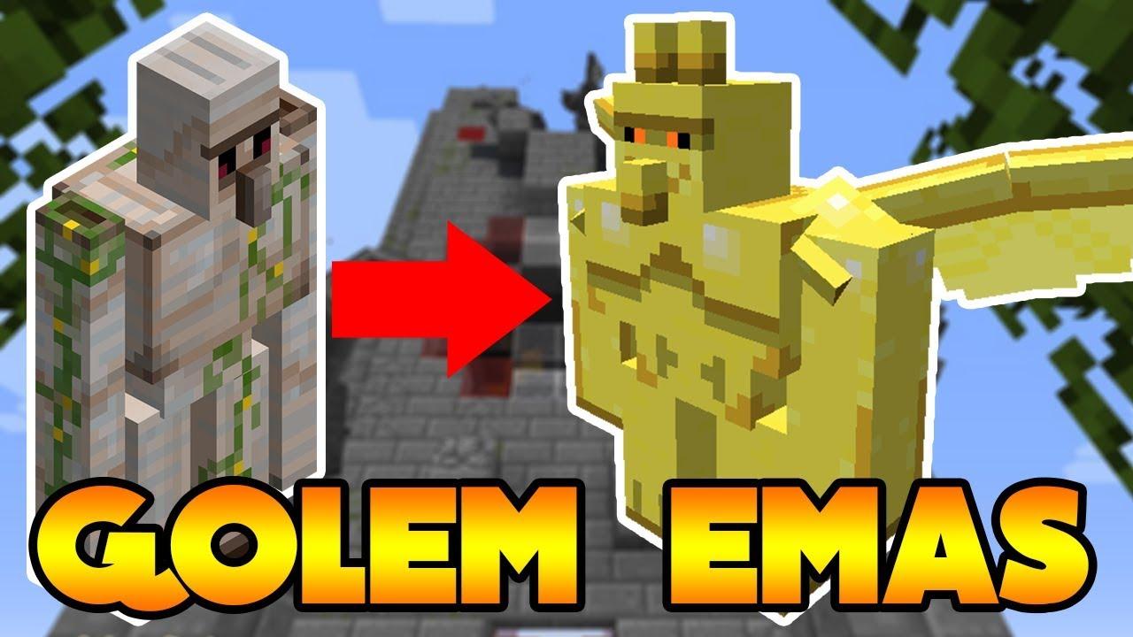 Cara Buat Golem Emas Super Kuat Di Minecraft Youtube