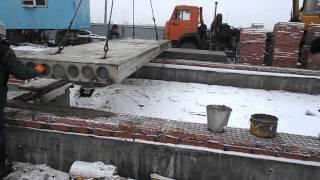 116-06 - Монтаж плит перекрытия(Поэтапный видеоотчет хода строительства объекта №116. Проект