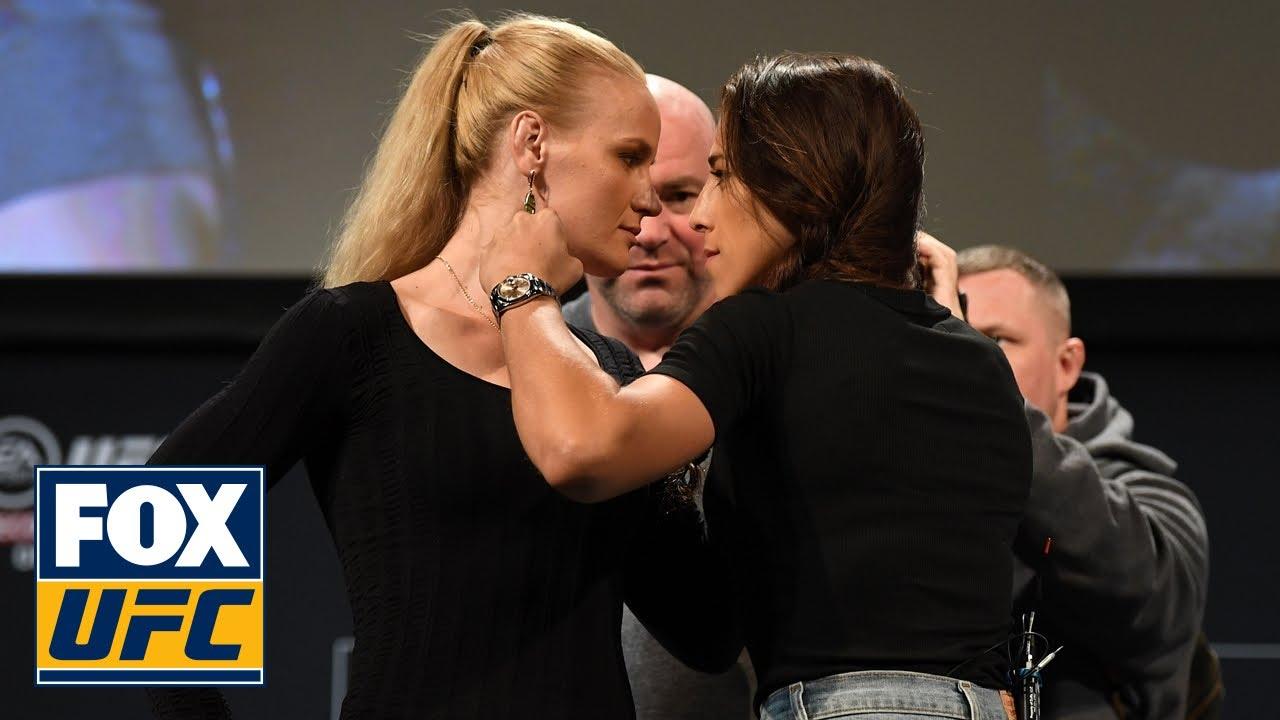 Valentina Shevchenko, Joanna Jedrzejczyk testy face-off before UFC 231