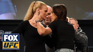 Valentina Shevchenko, Joanna Jedrzejczyk testy face-off before UFC 231 | UFC on FOX