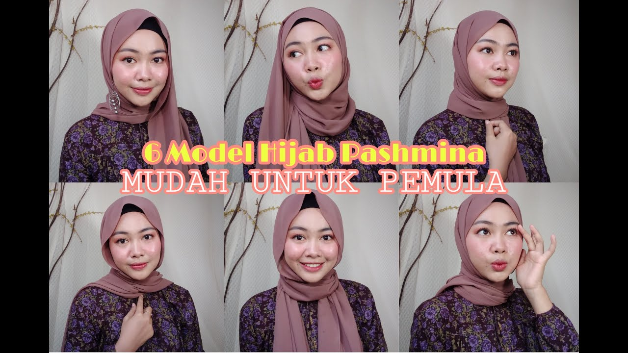 6 Tutorial Hijab Pashmina Simple Untuk Sehari Hari Untuk Pemula Nciik Nc Youtube