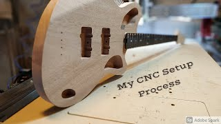 My CNC Setup Process | Fusion360 and Mach 3 | CNC Bass Guitar