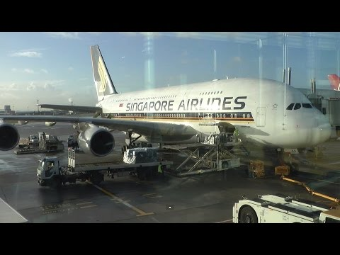Full Flight Singapore Airlines SQ317 London to Singapore A380 part 1