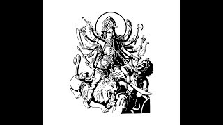 """How to draw """"Goddess Durga maa full body"""" pencil drawing step by step"""