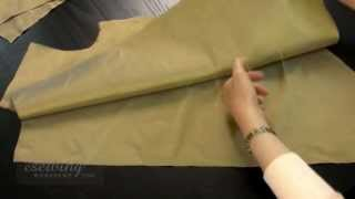 Shirt Sewing - Marking the Tailor Tacks on the Fabric Pieces (FREE SAMPLE)