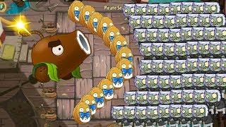 999.999 Coconut Cannon vs all Zombies - Plants vs Zombies 2