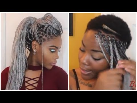 Box Braids On Extremely Short 4C Hair| Waist Length + Styles