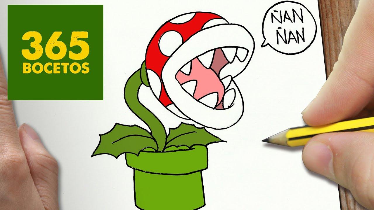 Como Dibujar Planta Piraña Kawaii Paso A Paso Dibujos Kawaii Faciles Draw A Carnivorous Plant