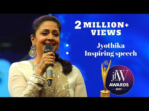 Jyothika Inspiring Speech at JFW Awards 2017 | JFW Magazine