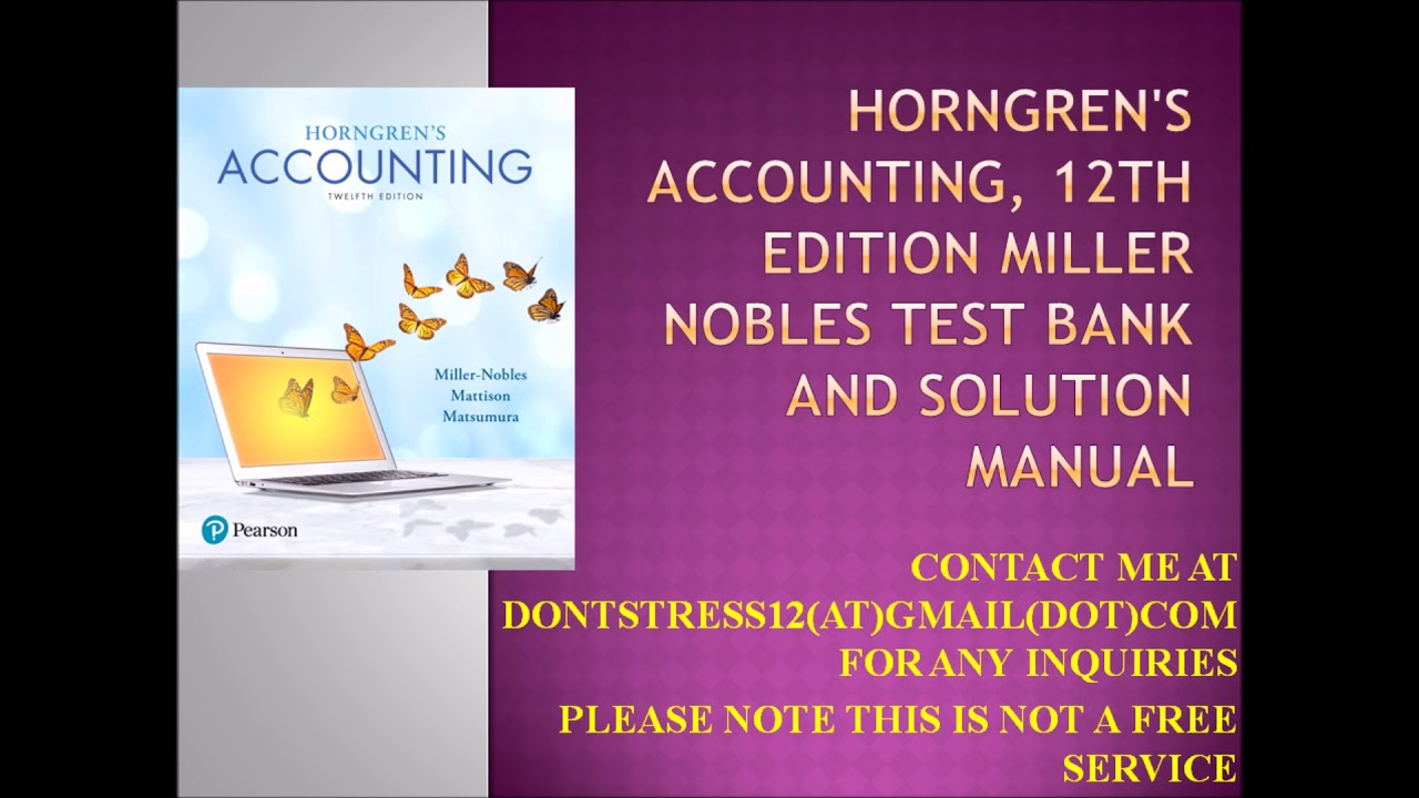 accounting horngren 9th edition Introduction to financial accounting horngren 9th edition introduction to financial accounting horngren 9th edition solutions manual downloads at wwwebookilyto.