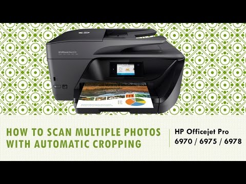 HP Officejet Pro 6970 | 6975 | 6978 : Scan multiple photos with Auto Crop