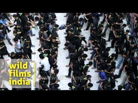 Gory rituals performed by Muslim devotees at Muharram