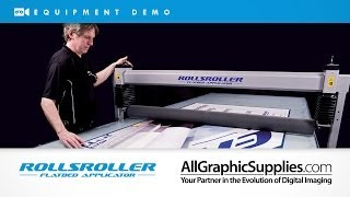 RollsRoller Demo: Mounting on Tray Signs - All Graphic Supplies
