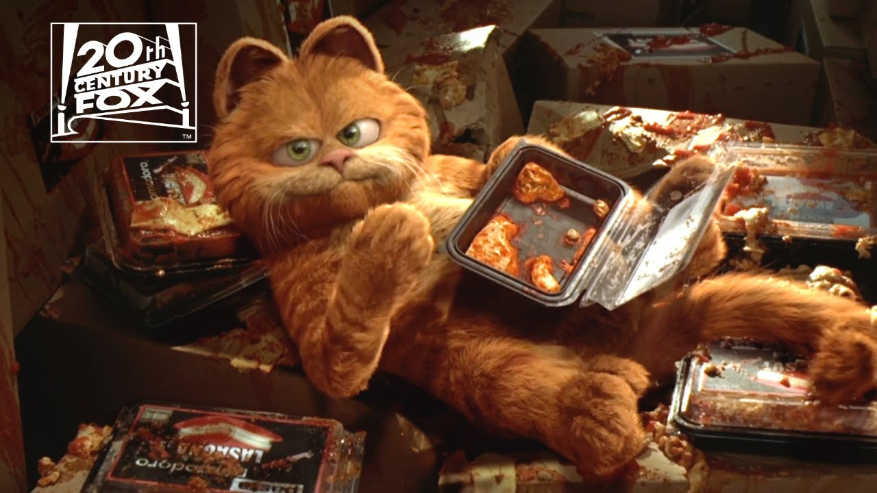 Garfield Saved By Lasagna Clip Fox Family Entertainment Youtube