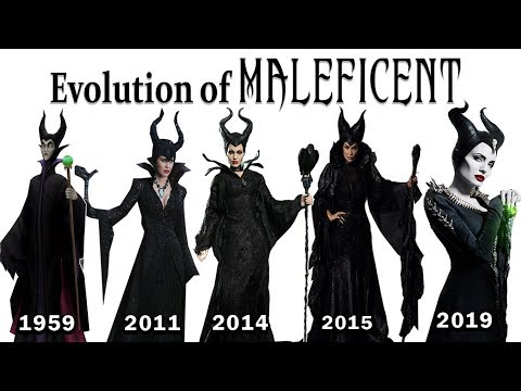 Evolution Of Maleficent From Sleeping Beauty 1959 To