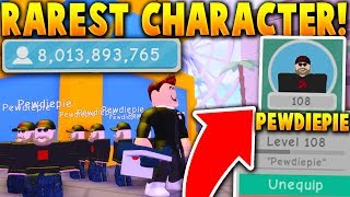 FULL TEAM OF THE RAREST PEWDIEPIE CHARACTERS In ROBLOX FAME SIMULATOR! (1 Billion Followers!)