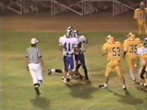 Charter Oak High School Football 1992   COHS vs SDHS