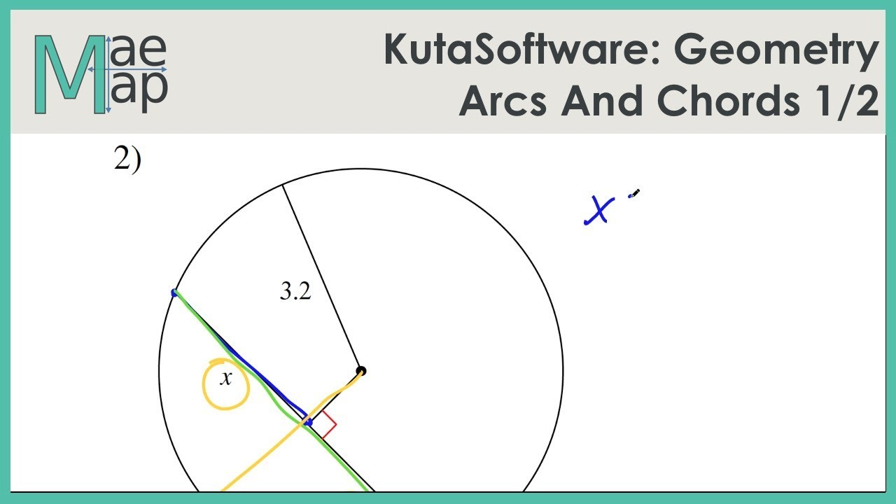 KutaSoftware: Geometry- Arcs And Chords Part 1