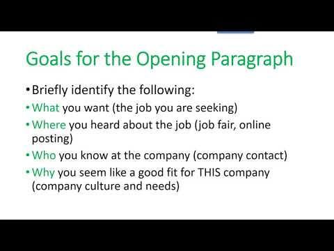 Targeted Cover Letter or Email Requirements - YouTube