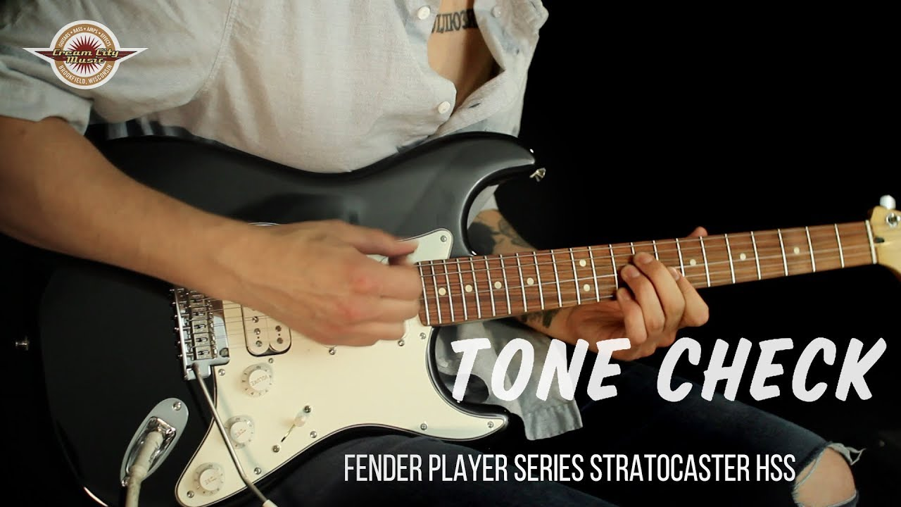 TONE CHECK: 2018 Fender Player Series Stratocaster HSS - NO TALKING