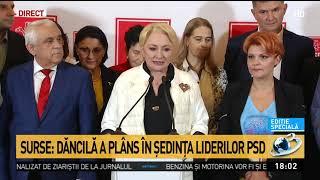 Ședință cu lacrimi și scandal la PSD. Viorica Dăncilă a plâns după o dispută cu Claudiu Man