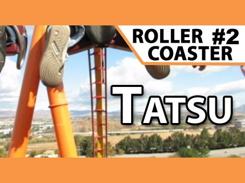 Tatsu Roller Coaster @ Six Flags Magic Mountain