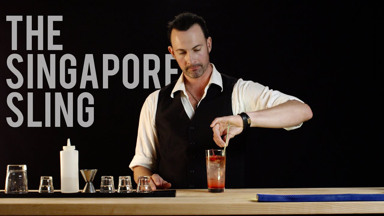 How to Make The Singapore Sling - Best Drink Recipes - YouTube