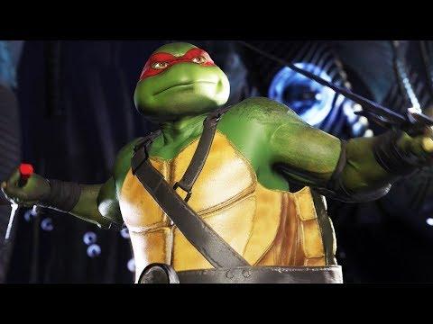 INJUSTICE 2: NINJA TURTLES ALL RAPHAEL Intros (Dialogue & Character Banter) TMNT 1080p HD