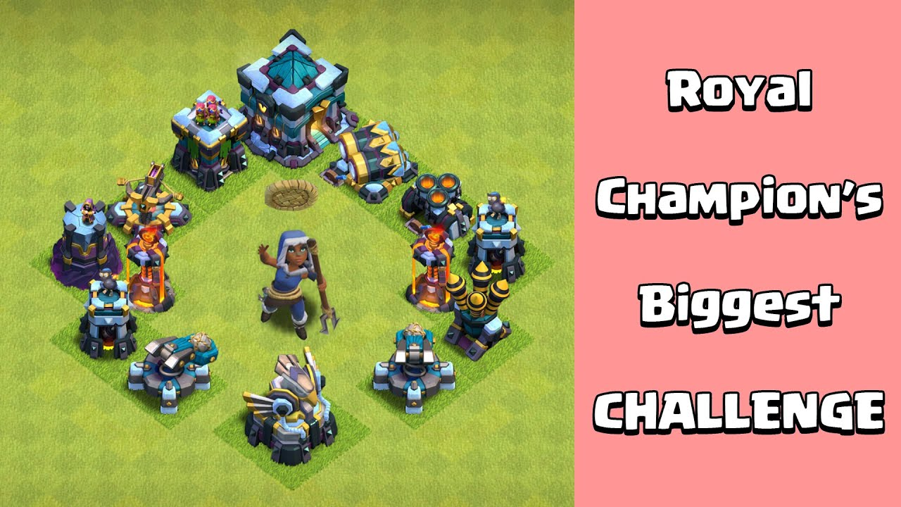 Max Royal Champion Vs Max Defense Formation | Clash of Clans Gameplay