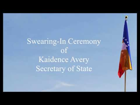 The Swearing-In of Secretary Kaidence Avery