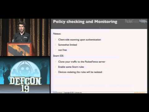 DEF CON 19 - Olivier Bilodeau - PacketFence, The Open Source Nac