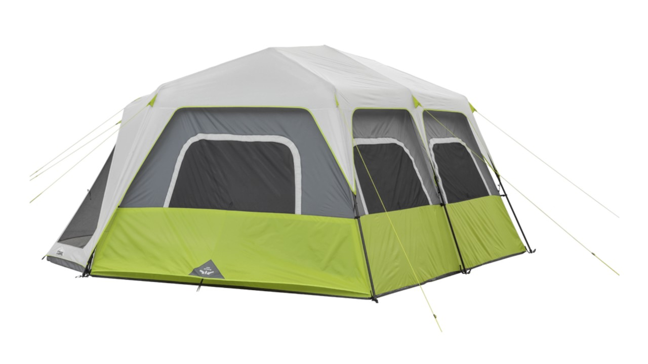Core Equipment 10 Person Instant Cabin Tent With Screen Room Youtube